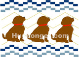 Faux Smocked Puppies HL2493 embroidery files