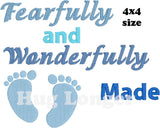 Fearfully and Wonderfully Made HL5562 embroidery file