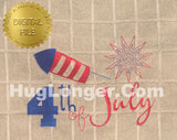 4th of July HL2314 embroidery file