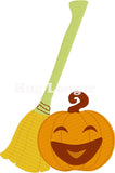 Halloween Broom and Pumpkin HL5595 embroidery files