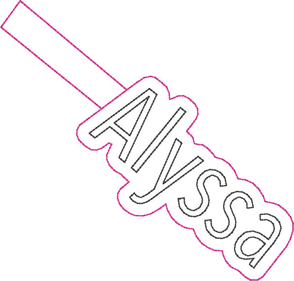 ITH Alyssa Fob HL2238 embroidery file