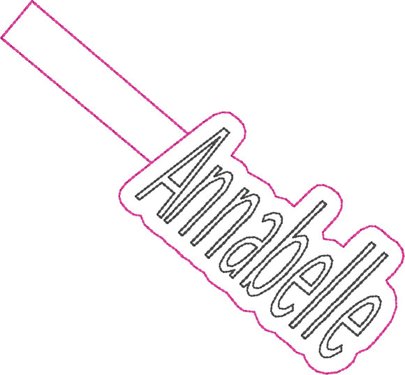 ITH Annabelle Fob HL2318 embroidery file
