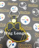 ITH Bow Football Fobs HL5584 embroidery files