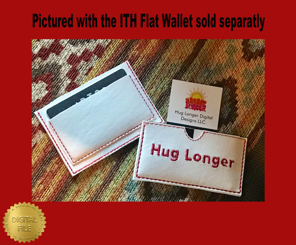 ITH Business Card Holder HL2477 embroidery files