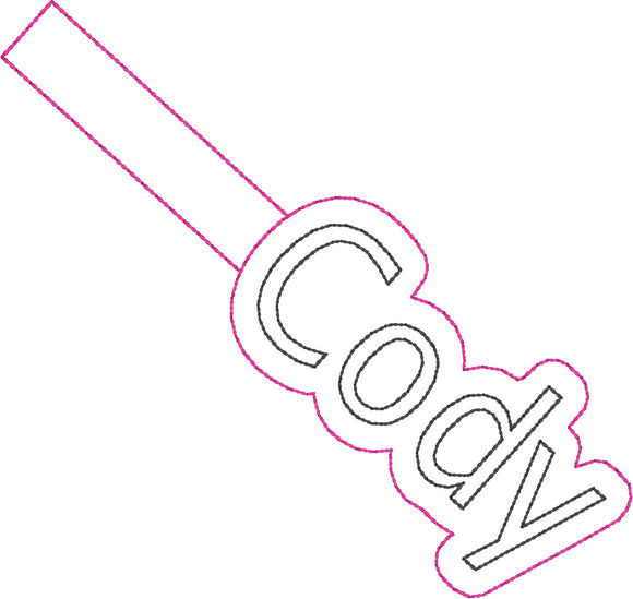 ITH Cody Fob HL2409 embroidery file