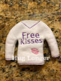 ITH Elf Sized Free Kisses Sweater HL5561 embroidery file