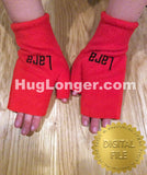 ITH Fingerless Mittens Kids HL2458 embroidery files