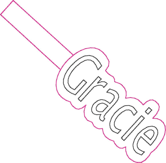 ITH Gracie Fob HL2423 embroidery file