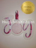 ITH Joy Door Hanger HL2460 embroidery file