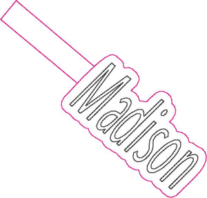 ITH Madison Fob HL2347 embroidery file