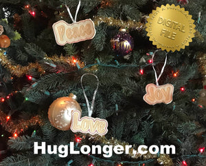 ITH Peace, Love and Joy Ornaments HL2439 embroidery files