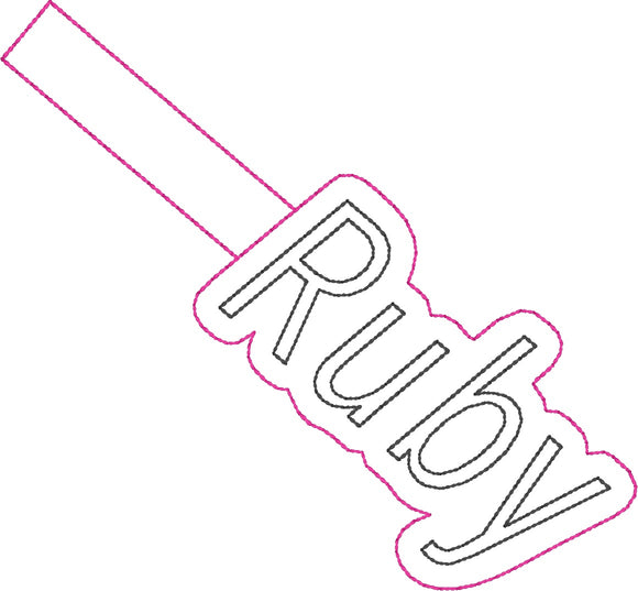 ITH Ruby Fob HL2341 embroidery file