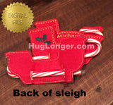 ITH Sleigh Candy Cane Holder HL2437 embroidery files
