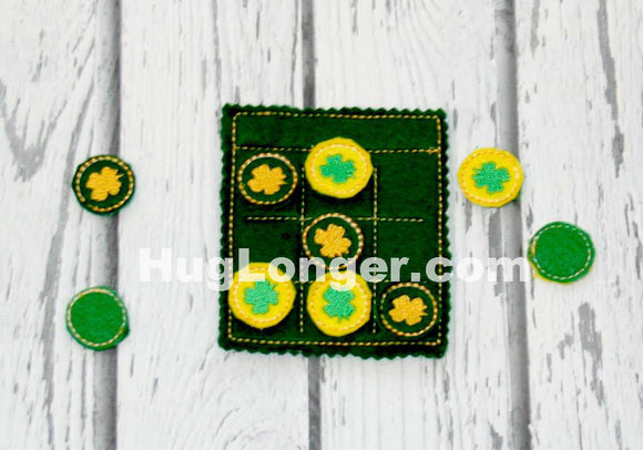 ITH St. Patrick's Day Tic Tac Toe Set HL2470 embroidery file