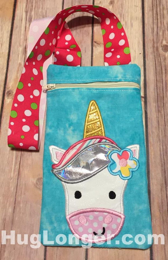 ITH Unicorn Zippered Bag HL2210 embroidery file