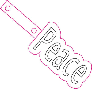 HL ITH Peace Fob HL5770 embroidery file