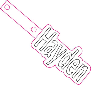 ITH Hayden Fob HL5610 embroidery file
