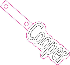 ITH Cooper Fob HL5615 embroidery files