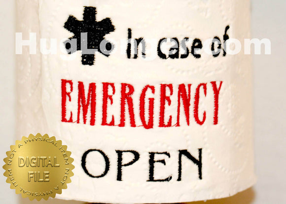 In Case of Emergency TP HL2461 embroidery file