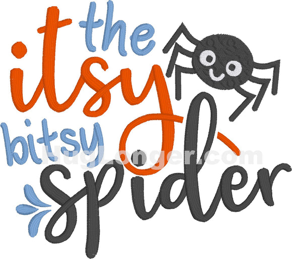 Embroidered Itsy Bitsy Spider HL2206 embroidery file