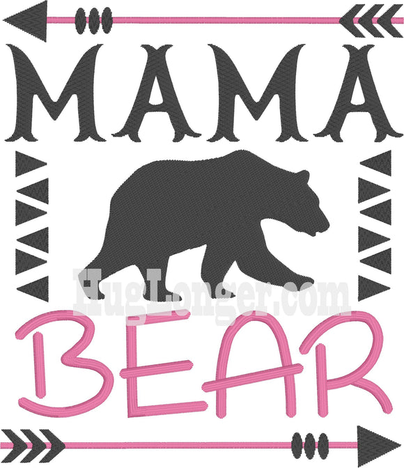 Embroidered Mama Bear HL2198 embroidery file