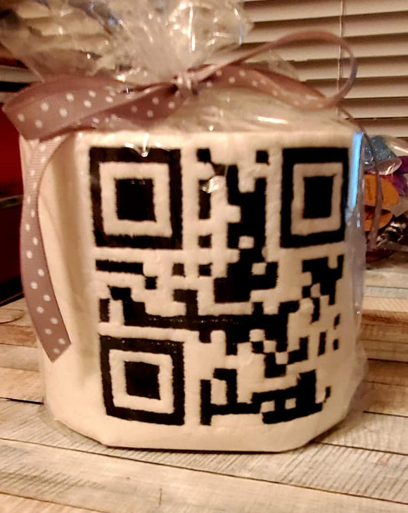 Wash Your Hands QR Code for Toilet Paper HL5699 embroidery file