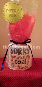 Sorry No Coal HL2392 embrodery file