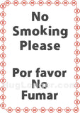 No Smoking Please Bilingual HL2484 embroidery files