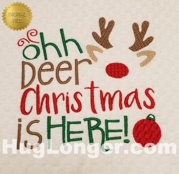 Oh Deer HL2390 embroidery files