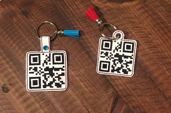 ITH QR Code Over it Fob HL5725 embroidery file