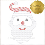Sketchy Santa TP design HL2370 embroidery file