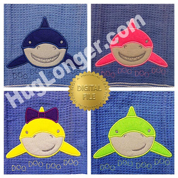 Applique Shark Family HL2369 embroidery files