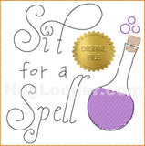 Sit for a Spell TP HL2379 embroidery file