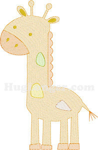 Sketchy Giraffe HL2172 embroidery file