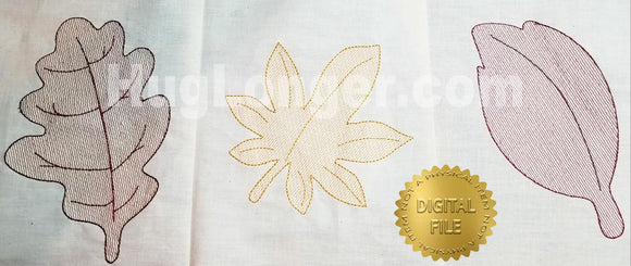 Sketchy Leaves HL2381 embroidery files