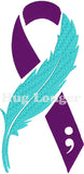 Suicide Awareness Ribbons HL2362 embroidery files