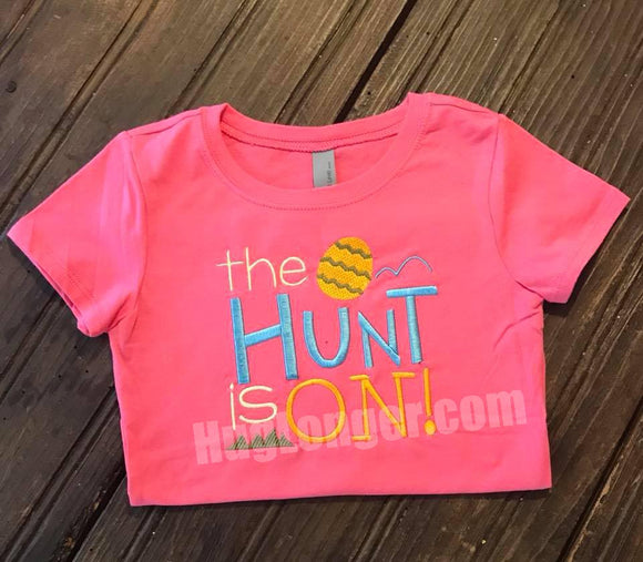 Embroidered The Hunt is ON HL2181 embroidery file