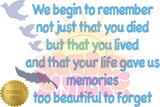 We Begin To Remember HL5780 embroidery file