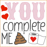 You Complete Me TP HL2474 embroidery file