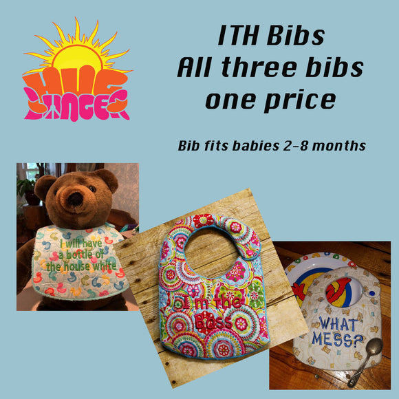 HL ITH Fun Bibs HL5694  ALL 3 BIBS included