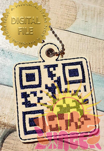 ITH QR F(see actual word in listing) Off Fob HL5784 embroidery file Adult Language!!!!