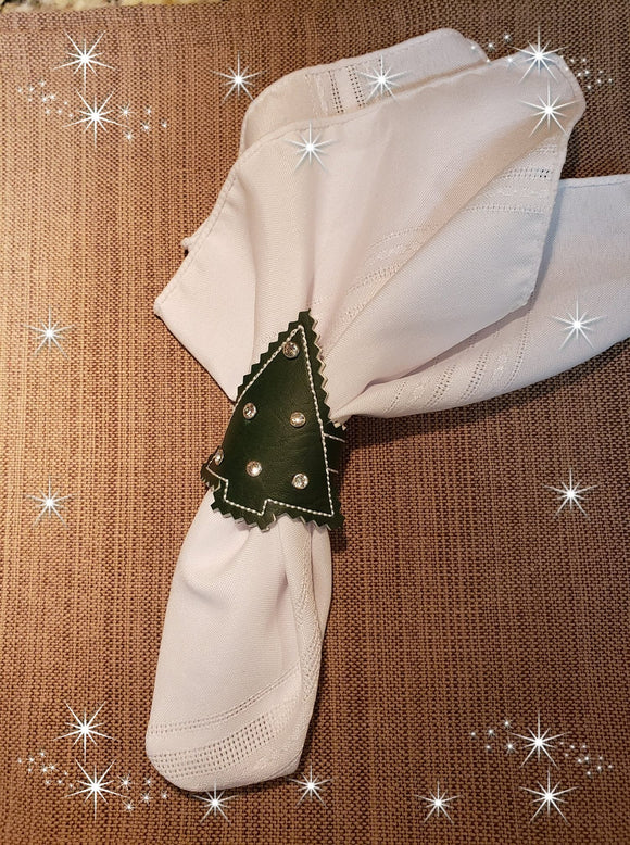 ITH Christmas Tree Napkin Ring HL5742 embroidery file