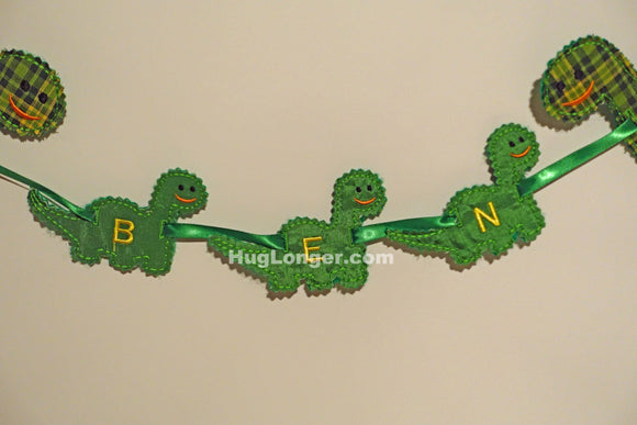 ITH Dinosaur Banner embroidery file HL1017 party banner