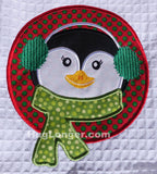 Applique Christmas Animals embroidery files HL1034 Penguin Deer Reindeer Bear Polar Bear Rudolph