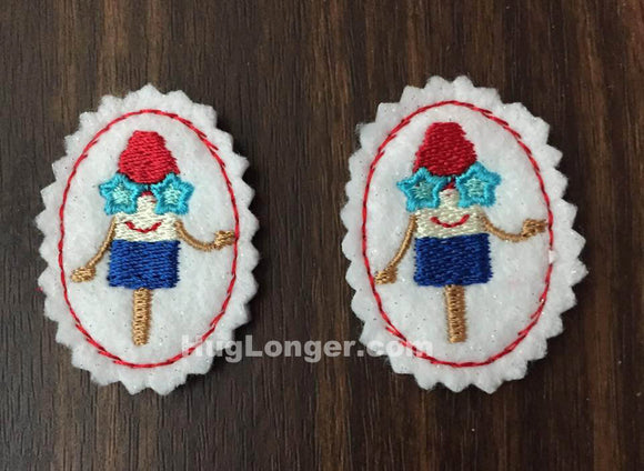ITH Patriotic Popsicle Felties embroidery file HL1020