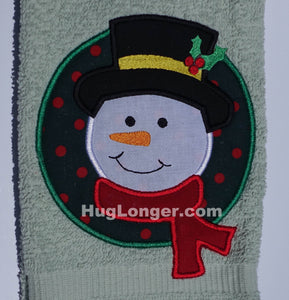 Appliqué Snowman embroidery file HL1036 Christmas Holiday Frosty