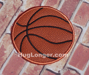 Applique Basketball embroidery file HL1040 sports patch
