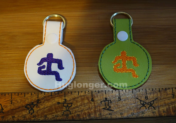 ITH Hawaiian Petroglyph Runner Key Fob embroidery file