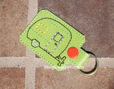 Camper Applique AND Key Fob HL1029