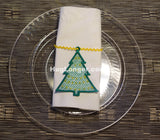 Free Standing Lace Christmas Tree Ornament embroidery file HL1054 napkin ring